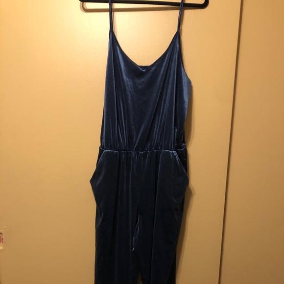 Old Navy Other - Old navy culotte jumpsuit blue velvet
